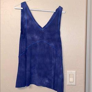 Blue tie dye tank